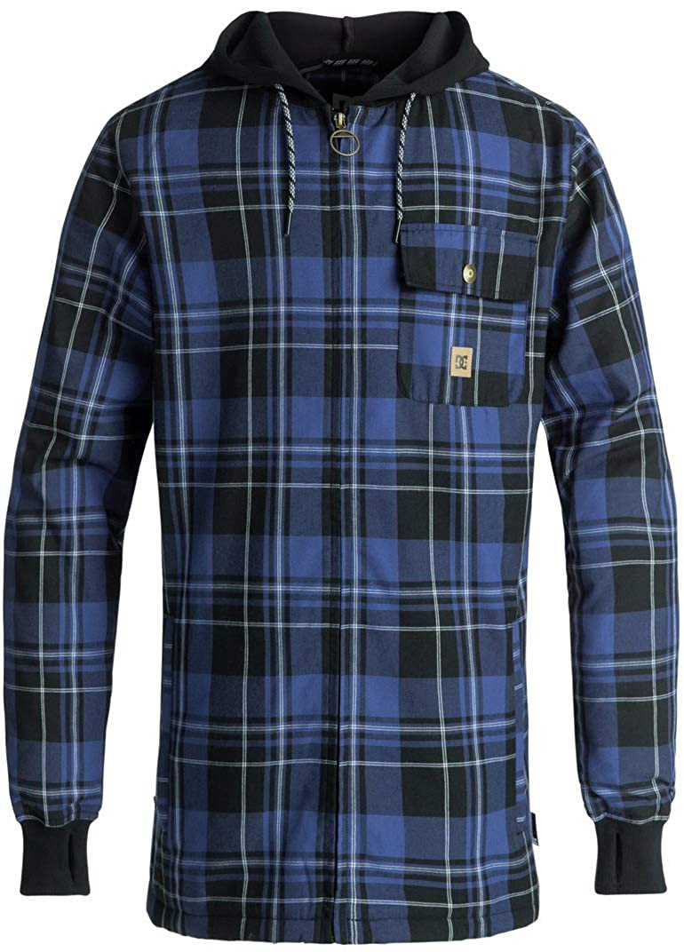 DC Men\'s Backwoods Insulated Flannel Shirt Jacket Water Resistant DC Young Men' s Snow EDYWT03154