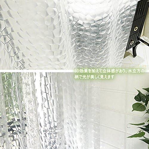 Hiveseen Cortina de ducha para baño y cubo de agua 3D transparente ...