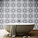 Sticker Tile Stickers Home Decor Carrelage Adhésif Floor Flooring Fliesenaufkleber Bathroom Kitchen Decal Peel & Stick Vinyl Adhesive Tiles(Set 12 Units)