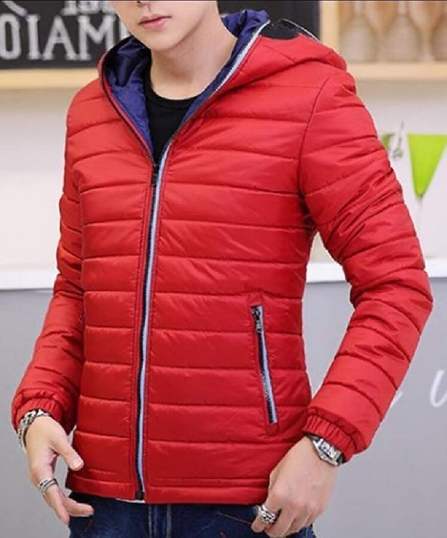 omniscient Mens Plus Size Puffer Jacket Parka Coat Jacket Hooded Outerwear