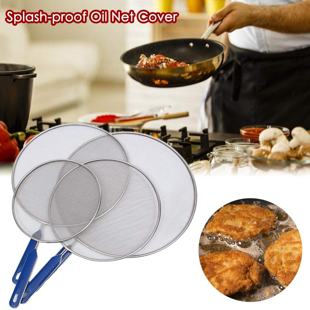 Splatter Guard for Cooking Protects Skin from Burns Stainless Steel Stops 99 of Hot Oil Splash Grease Splatter Screen for Frying Pan Iron Skillet Lid Keeps Kitchen Clean