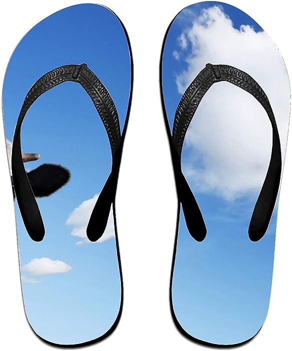 15cf3bed1 Amazon.com  Dairy Cow Design Fashion Women s Men s Classical Flip Flops   Clothing