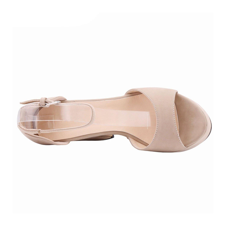 New Square High High Square Heel Sandals Fashion Women Dress Sexy Shoes Pumps Gladiator Sandalia Feminina NPZ-B0036 37|7 B07FJLM51V 659796