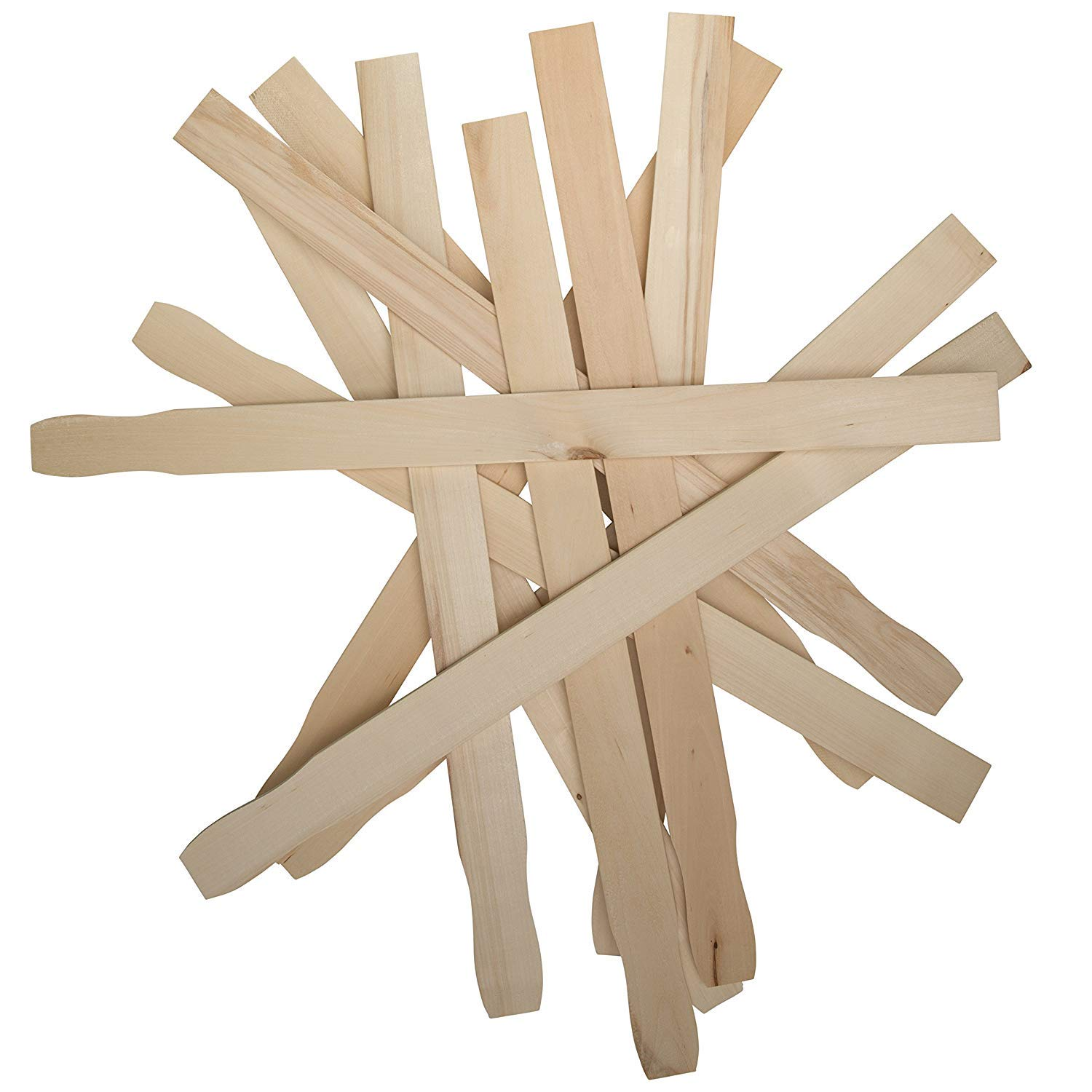 Mix Epoxy Box of 50 Sanded Hardwood Paint Stirrers for Wax Garden and Library Markers by Woodpeckers Resin or Kids Wood Crafts 9 Inch Paint Sticks