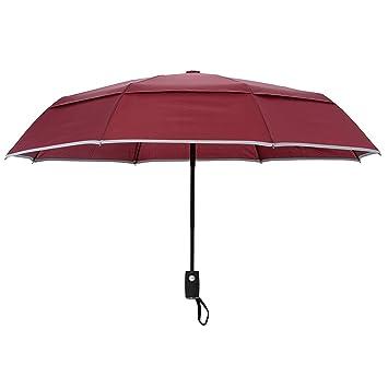 Arcadia al aire libre Ventilación doble cubierta resistente al viento paraguas de viaje con reflectante Edge