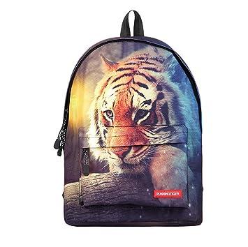 Mochila para Niños Bolsa De Transporte Mochilas Elefante Animal-Ideal Hombres Ligeros Niñas Hombre Mujer para La Escuela, Viajar, Al Aire Libre, Tiger: ...