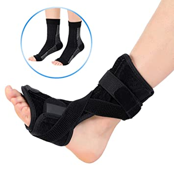 62bfdad843be7 DOACT Plantar Fasciitis Night Splint for Heel Pain Relief, Foot Drop  Orthotic Brace for Night Time Use and Compression Plantar Fasciitis Socks  for Day ...