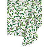 Creative Converting 13704 Plastic Banquet Table Roll, Holly, 50', One Size, Multi Color