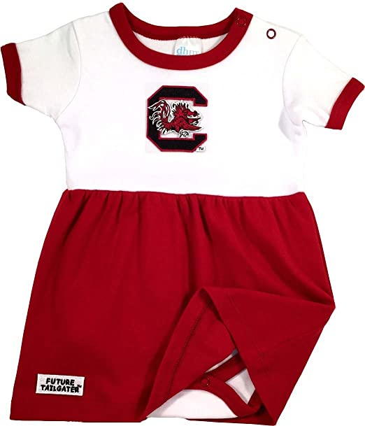 e65fd0612 Amazon.com: Future Tailgater South Carolina Gamecocks Baby Onesie Dress:  Clothing