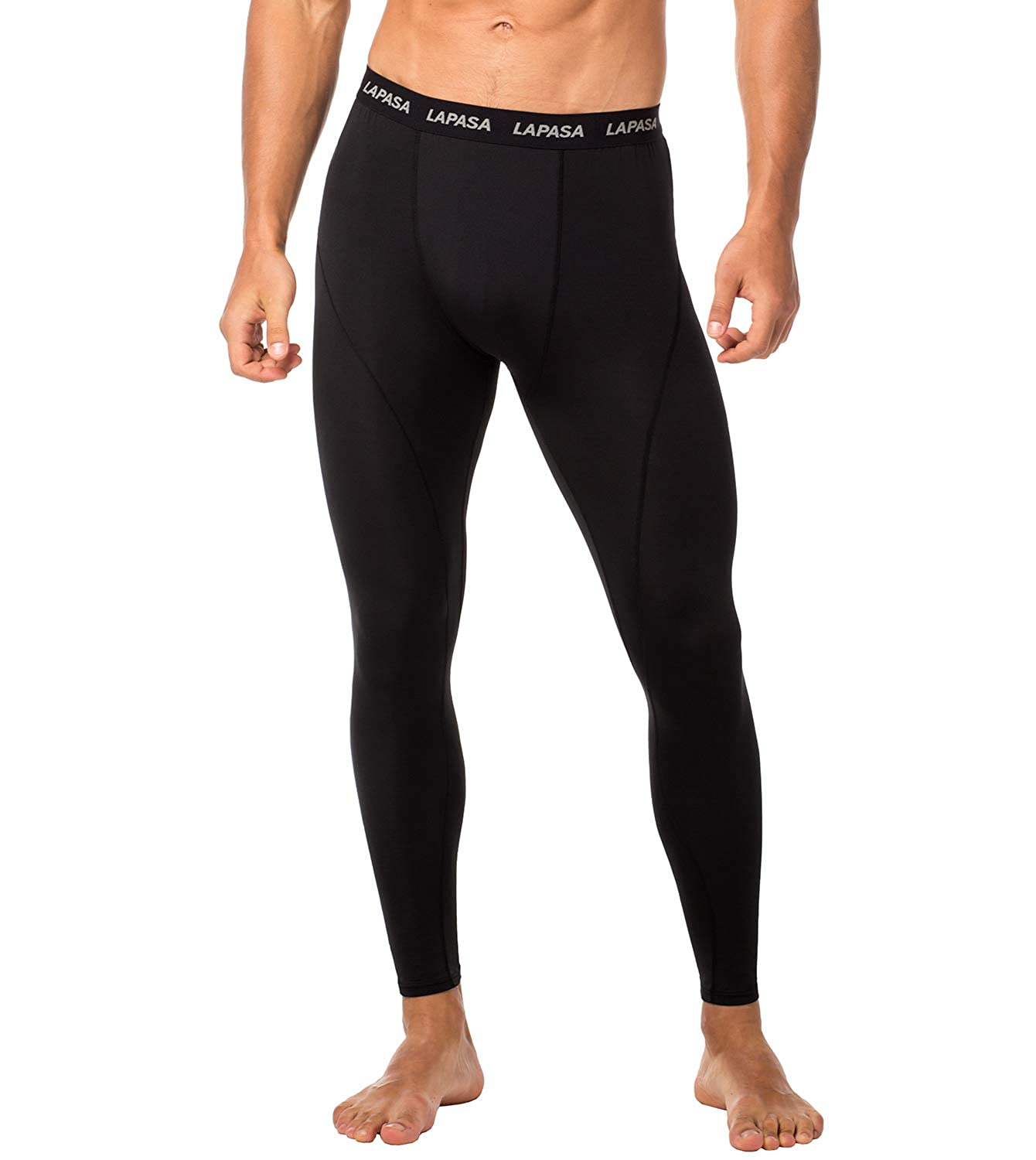 d91ff7b152132 LAPASA Men's Compression Tights - GRADUATED COMPRESSION - Running Workout  Legwarmer Gym Pants Training Leggings Drawstring Waistband Base Layer M18,  M48