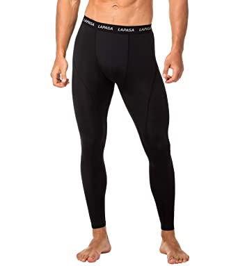 b1c1cb45097855 LAPASA Men's Compression Tights - GRADUATED COMPRESSION - Running Workout  Legwarmer Gym Pants Training Leggings Drawstring Waistband Base Layer M18,  M48