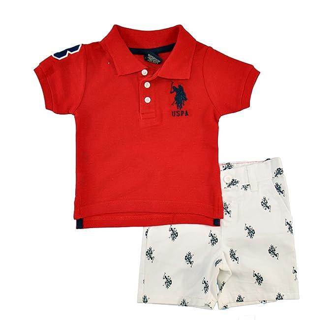 bd610424 Amazon.com: U.S. Polo Assn.. Baby Boys' Twill Pony Print Short and ...