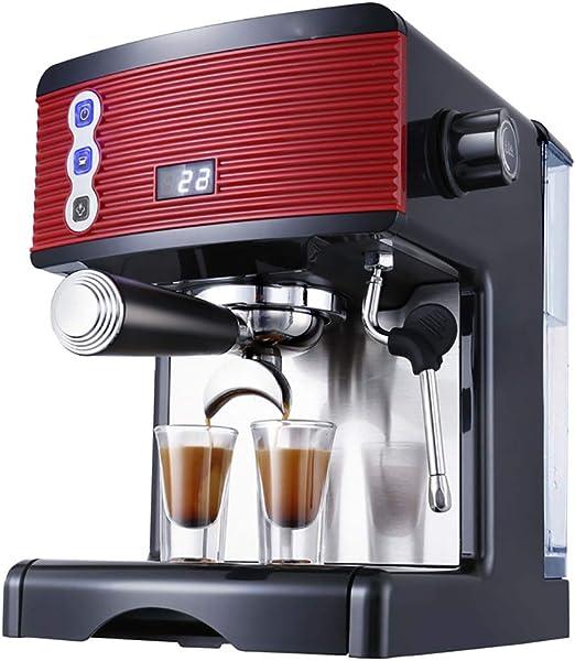 Cafetera italianas eléctrica espresso 1.7L Máquina café espuma, Máquina de espresso semi automática, roja: Amazon.es: Hogar