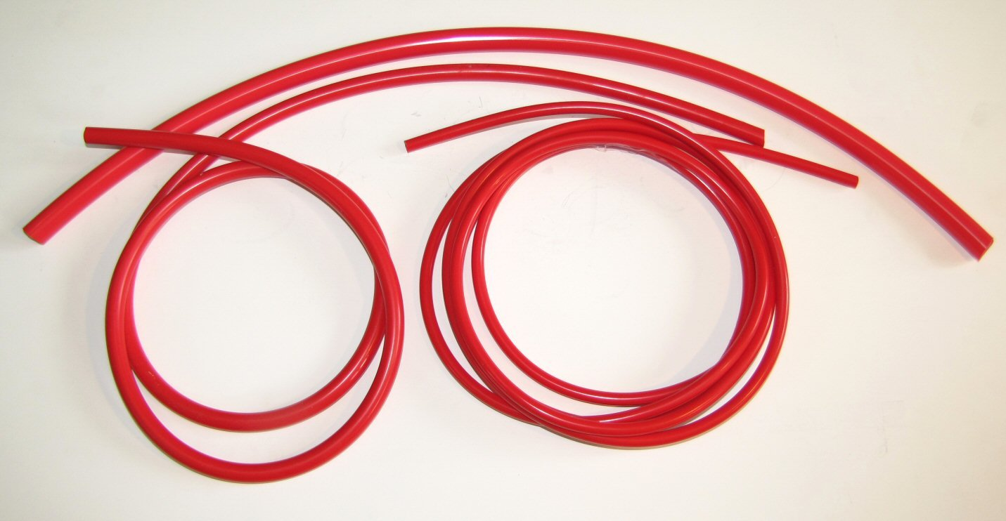 Metric Silicone Vacuum Lines 3 Sizes Kit - Red by MotoSport (Image #2)