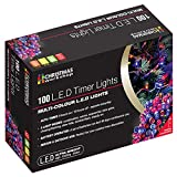 The Benross Christmas Workshop 100 LED Battery Operated Timer Light, Multi-Col