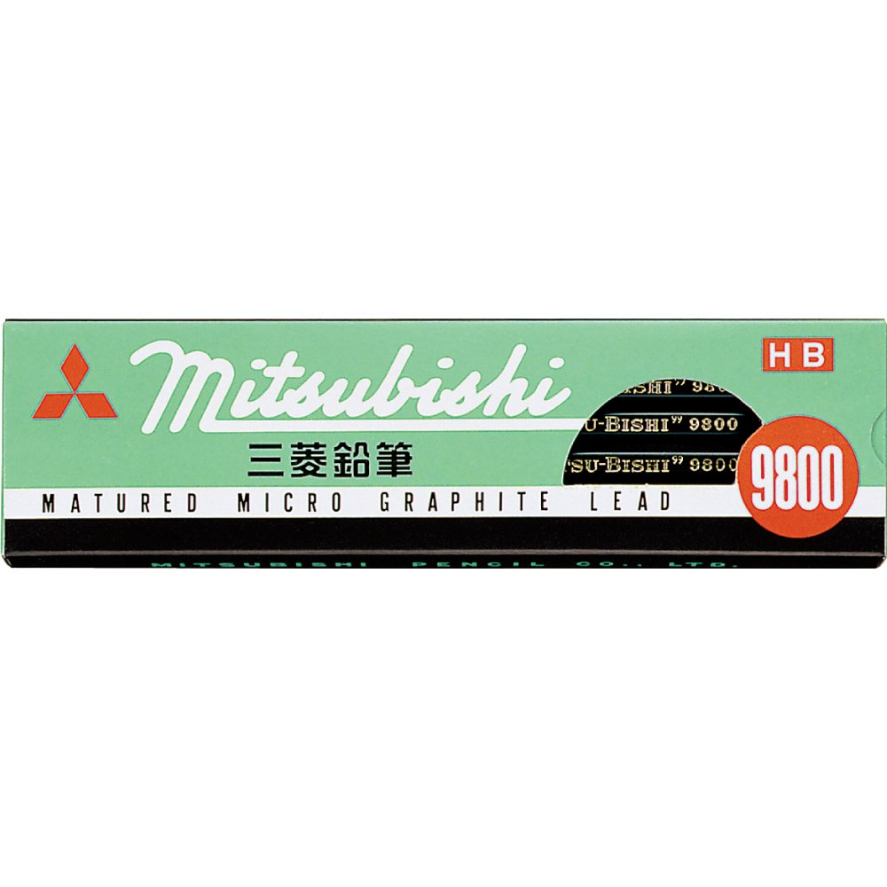 Mitsubishi Pencil Co., Ltd. 9800 pencil dozen (12 pieces) HB K9800HB (japan import)