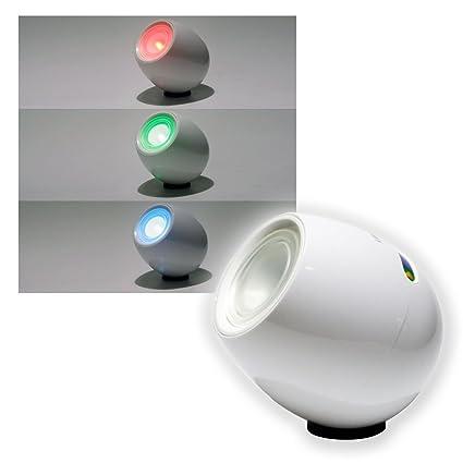 Lunartec Lampe Lumière d\'ambiance : Lampe LED Blanc Ambiance Avec ...