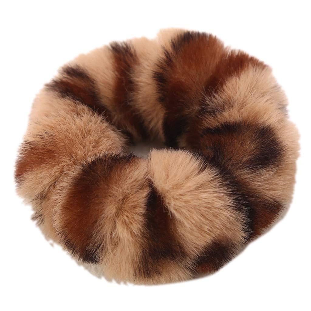 Corbata de pelo de felpa para mujer, con pompón, para coleta ...