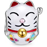 NinaQueen - Gatto fortunato - Charms Bead da donna argento sterling 925