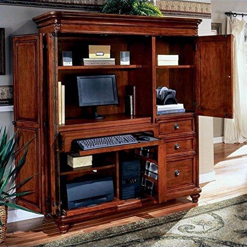 DMi Furniture DMi Antigua Wood Computer Armoire in Cherry