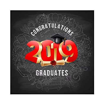 Cassisy 3x3m Vinilo Telon de Fondo 2019 Cap de graduación ...
