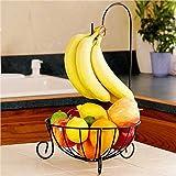 オシャレデザイン バナナもひっかけられる フルーツバスケット フルーツスタンド アイアン製