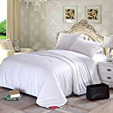 "Silklover 100% Pure Top Grade Mulberry Silk Duvet Handmade in Sateen Cover Queen Size 90""92"" for Summer"