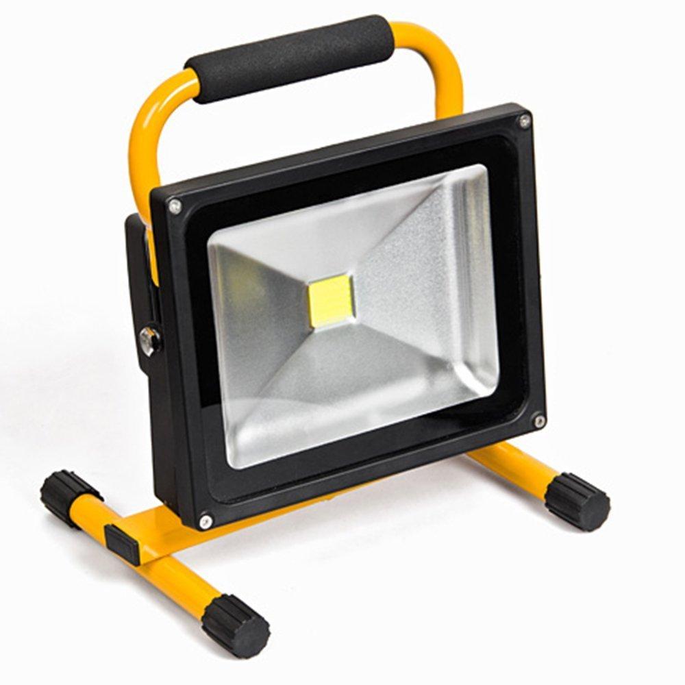 MCTECH/® 20W LED batterie Portable Rechargeable Lampe baladeuse Chantier /à LED Phare de travail Lampe camping p/êche /Éclairage ext/érieur Lanterne Camping Lanterne Atelier Projecteur IP65 20W Bianco freddo