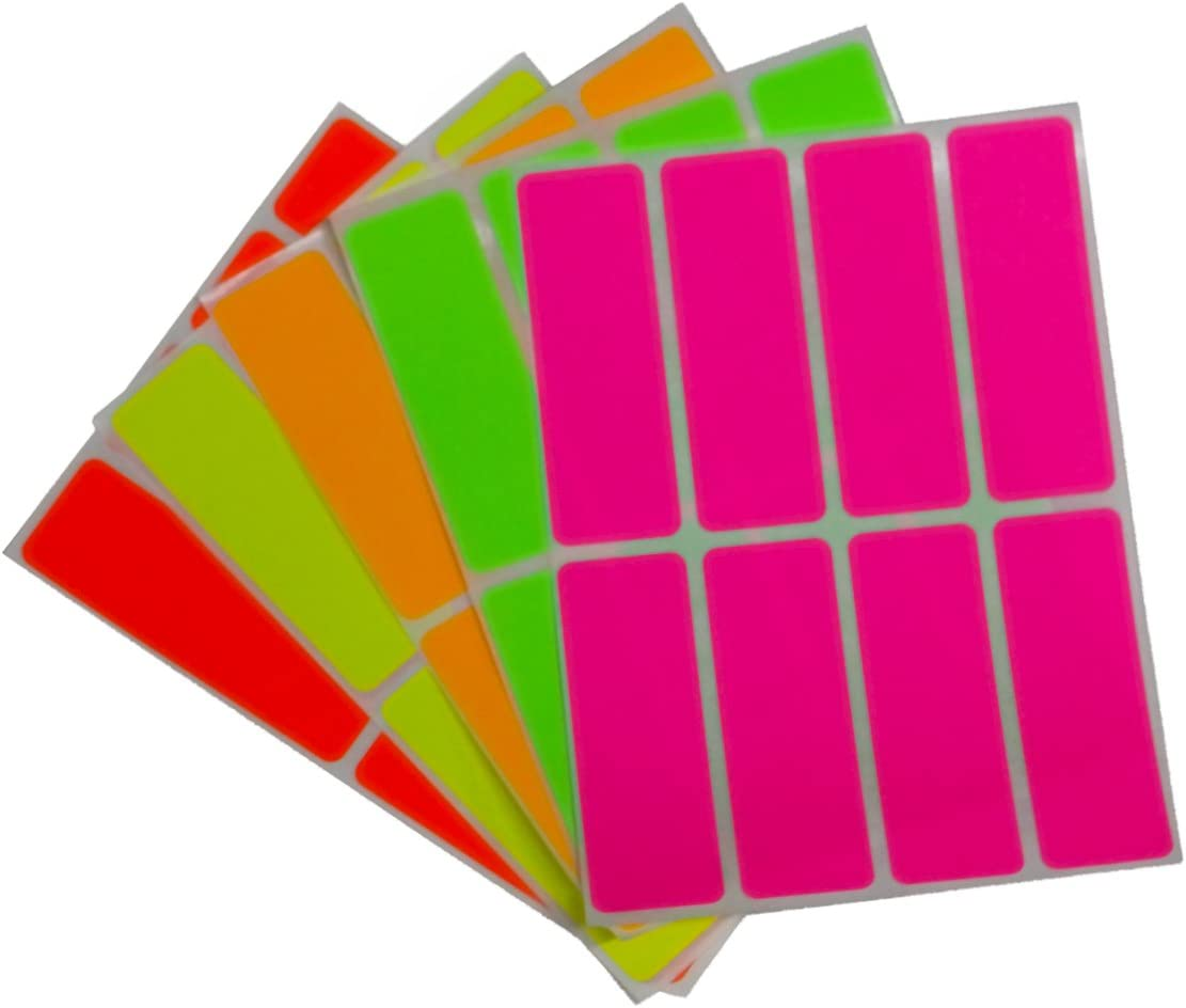 Amazon.com: Royal Green Color Coding Labels neon 3 inch x 1 inch  Rectangular Stickers in Bright Colors/Yellow/Pink/Orange/Green/Red - 160  Pack: Electronics