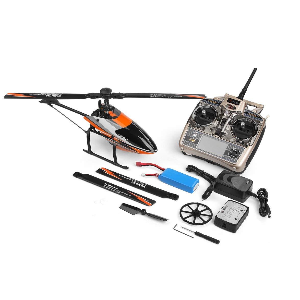 Kongqiabona WLtoys V950 2.4G 6CH 3D 3D 3D / 6G System frei geschaltet Hocheffizienter bürstenloser Motor RTF RC Hubschrauber Stärkerer Windwiderstand d56320