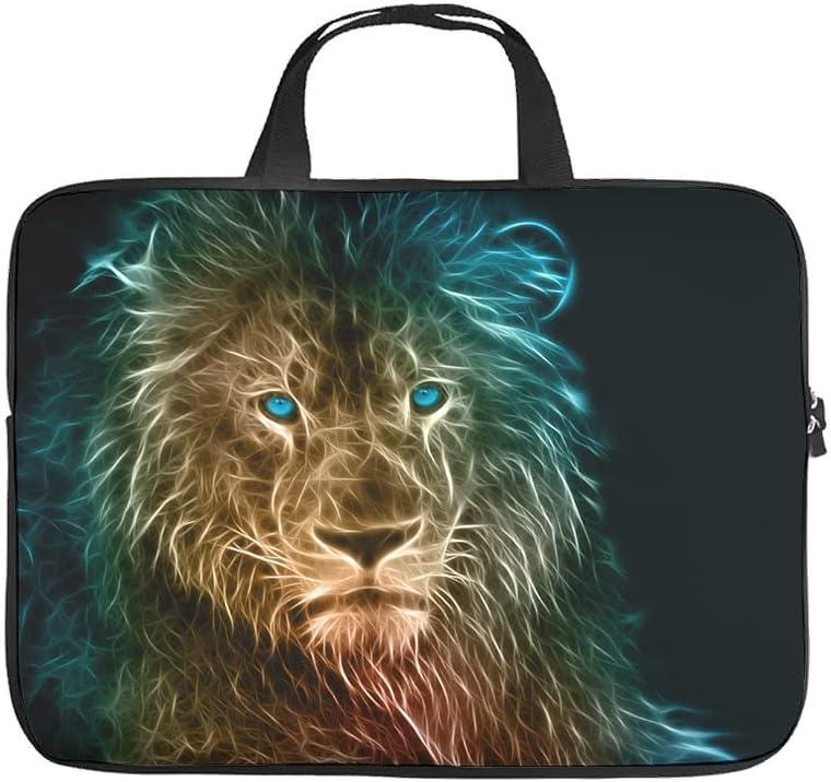 Funda para portátil con diseño de ojos azules y león, antiestática, divertida funda para portátil para universidad, trabajo, negocios