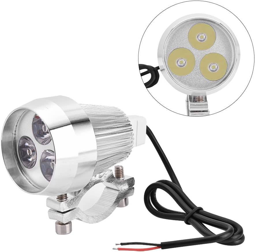 3 LEDs Spot light Bulb White Lamp Keenso 30W Spot Light Driving Fog Lamp DRL for Motorcycle Bike Bicycle Scooter ATV