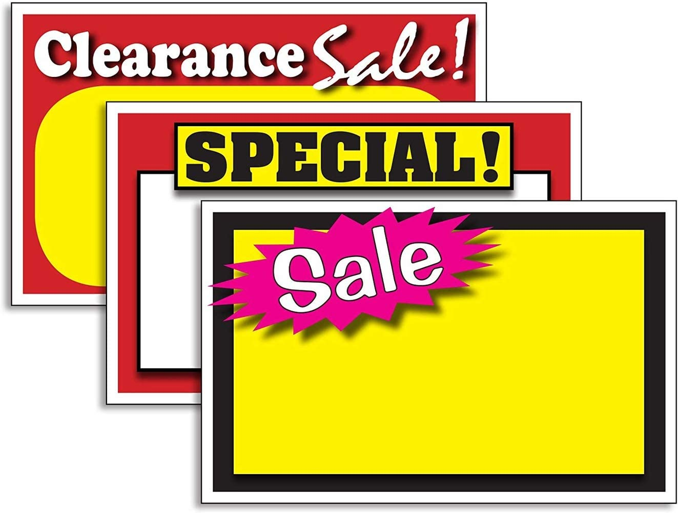 RETAIL STORE SALE PRICE DISPLAY CASE /& SHELF SIGNS TAGS QUALITY! 200 SPECIAL