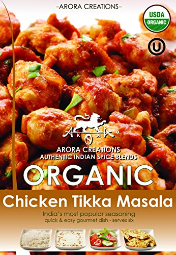 Arora Creations Organic Chicken Tikka Masala Spice Blend, 0.9-Ounce Units (Pack of ()