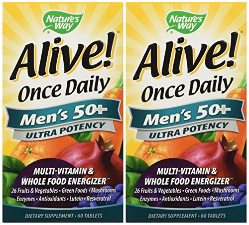 (Nature's Way Alive Once Daily Men's 50+ 120 Capsules)