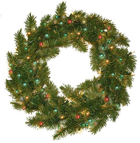 Pre Portland Wreath Multi Lights