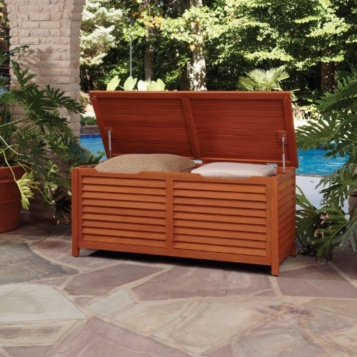 Home Styles 5661 25l Montego Bay Outdoor Large Deck Box Deck Boxes Patio And Furniture