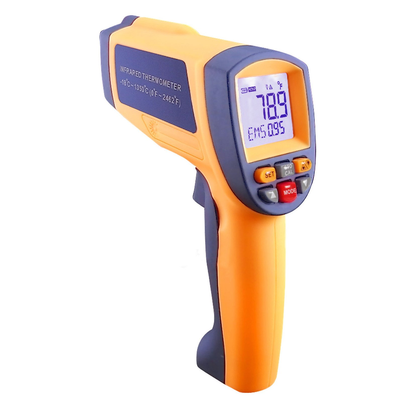 Digital IR Laser Thermometer with 50 Is To 1 Distance Spot Ratio and -18 To 1350 Degree C Or 0 To 2462 Degree F