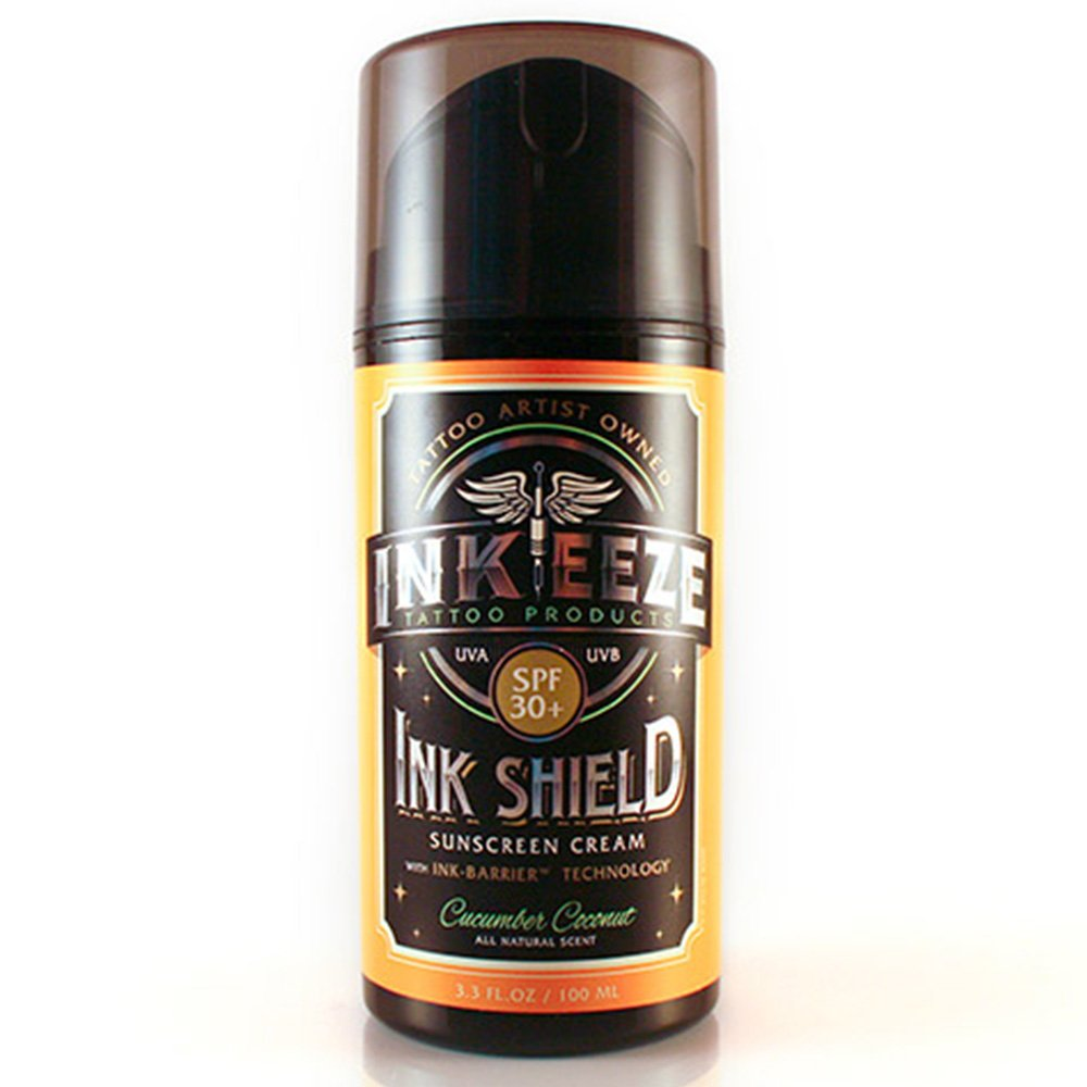 INK-EEZE Ink Shield UVA / UVB Blocking Tattoo SunScreen SPF30 3.3oz Airless Pump by INK-EEZE (Image #1)