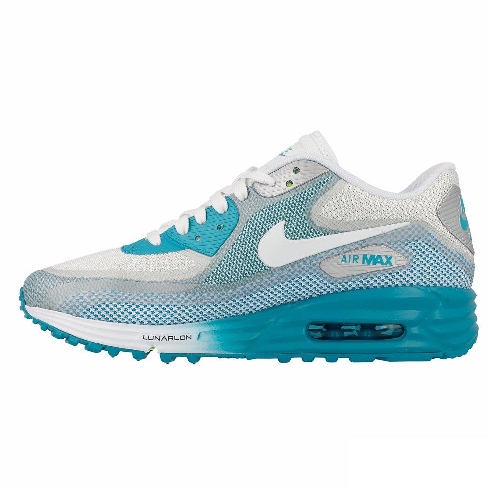 meilleur service aa175 e3d65 Nike AIR MAX LUNAR90 WMNS Baskets Femme 631762-002-39-8 Bleu ...