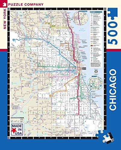 New York Puzzle Company - Chicago Transit CTA Transit Puzzle - 500 Piece Jigsaw Puzzle