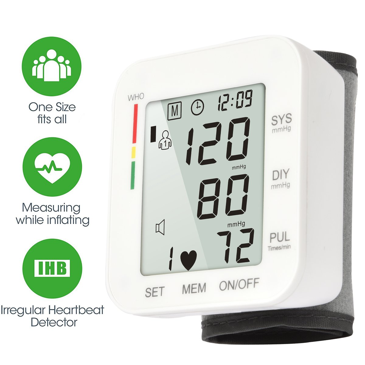Tensiómetros de muñeca eléctricos (blanco): Amazon.es: Salud y cuidado personal