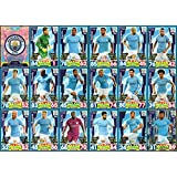 MATCH ATTAX 2017/18 MANCHESTER CITY FULL 18 CARD TEAM SET 17/18