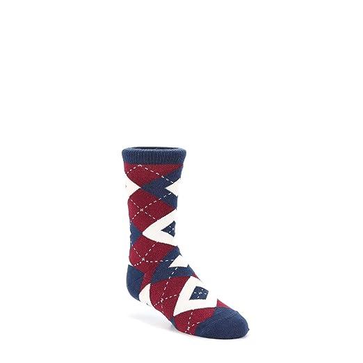 f39f1f8b2 Amazon.com  Statement Sockwear Argyle Youth Junior Kid s Groomsmen Dress  Socks (Burgundy Navy)  Clothing