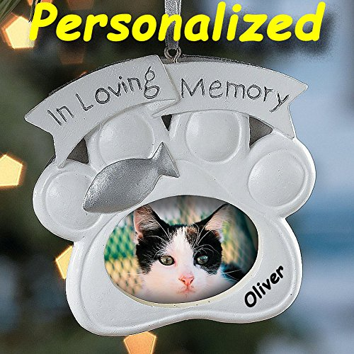 Personalized Loving Memory Cat Pet Memorial Christmas Ornament - Picture Frame Ornament Tree