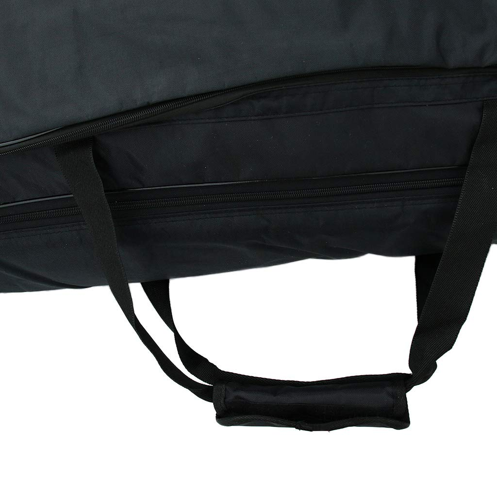 sharprepublic Port/átil 88 Teclas Teclado Piano El/éctrico Funda Acolchada Gig Bag Caso Grande Negro
