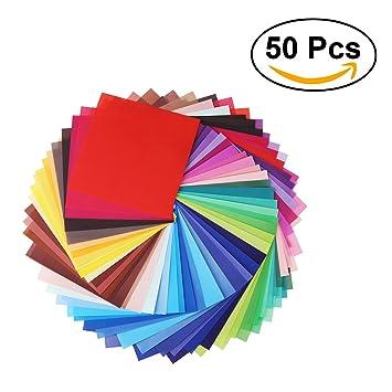 Nuolux 50 Blätter Einseitig Origami Papier Quadratisches Blatt Für