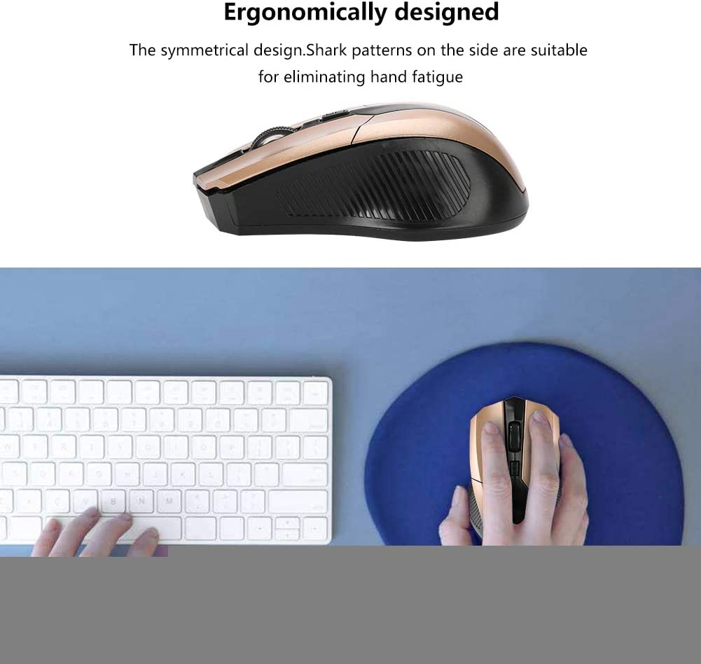 Wendry Gaming Mouse Portable 2.4G Optical Wireless Mouse Adjustable DPI USB Receiver Office Gaming Mouse for PC