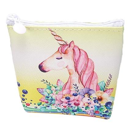 XIAOL Home Lindo Flamingo Unicornio Monedero con Cremallera ...