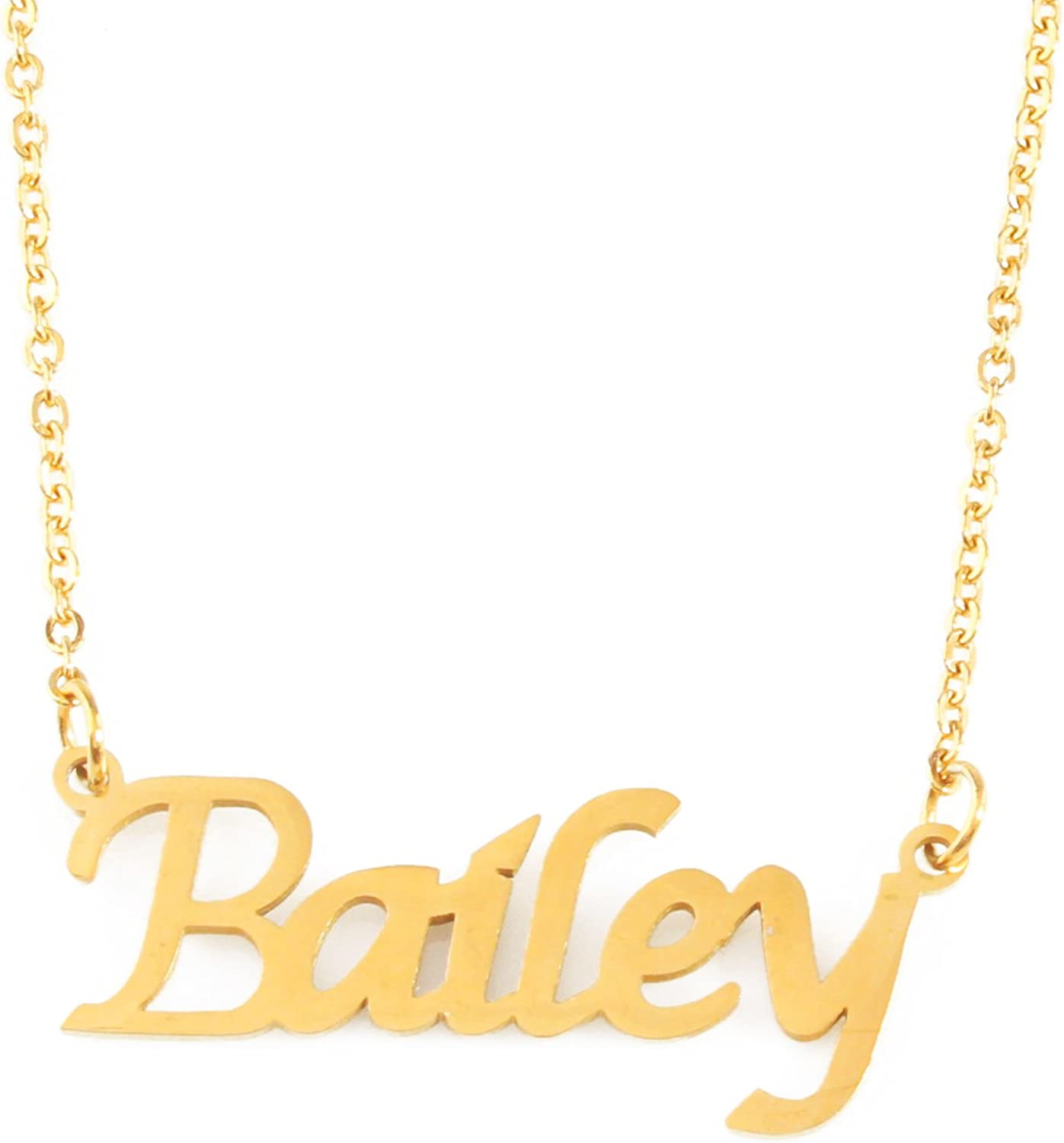 Zacria Riley Name Necklace 18ct Rose Gold Plated